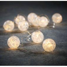 LED гірлянда Luca 6 м перлини з мерехтінням (біле холодне світло)