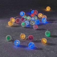 LED гірлянда Luca 6 м перлини з мерехтінням (мультикольорове світло)