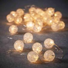 LED гірлянда Luca 6 м перлини з мерехтінням (біле тепле світло)