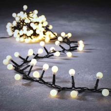 LED гірлянда Luca 19 м змійка матові кульки (біле тепле світло)
