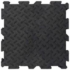 Модульне підлогове покриття Alpha Tile рифлене 30х30 см чорне 10 шт