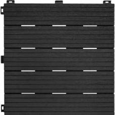 Модульное террасное покрытие Cosmopolitan рифленое 30х30 см черное 6 шт