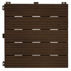 Модульне терасне покриття Cosmopolitan рифлене 30х30 см коричневе 6 шт