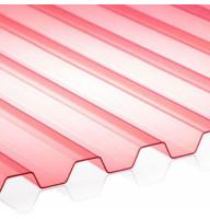Прозорий червоний ПВХ шифер ONDEX ECOLUX 3000 X 1095