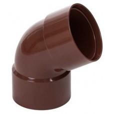 Коліно з двома раструбами коричневе Profil Ø100 мм 60°
