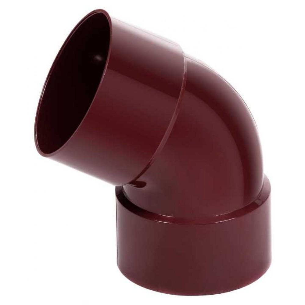 Коліно з двома раструбами червоне Profil Ø100 мм 60°