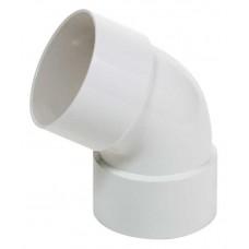 Коліно з двома раструбами біле Profil Ø100 мм 60°