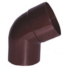 Коліно зливне коричневе Profil Ø75 мм 60°