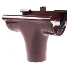 Лійка водостічна прохідна коричнева Profil Ø130/100 мм