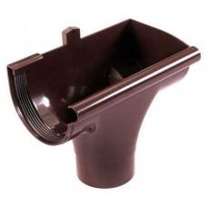 Лійка водостічна права коричнева Profil Ø130/100 мм