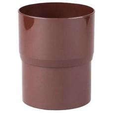 З'єднувач водостічної труби коричневий Profil Ø100 мм