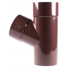 Трійник коричневий Profil Ø100 мм 67°