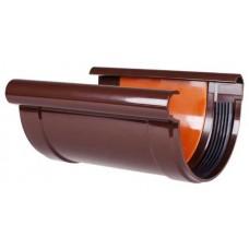 З'єднувач ринви коричневий Profil Ø130мм