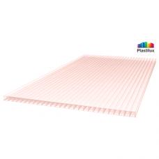 Стільниковий полікарбонат Plastilux GREENHOUSE-NANO рожевий 2100х12000х6мм