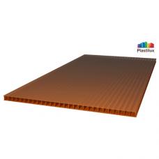 Стільниковий полікарбонат Plastilux POLYNEX бронзовий 2100х12000х10мм
