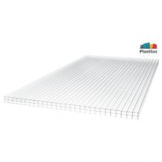 Стільниковий полікарбонат Plastilux ULTRAMARIN прозорий 2100х6000х16мм