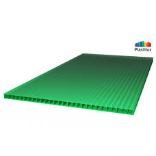 Стільниковий полікарбонат Plastilux ULTRAMARIN зелений 2100х6000х8мм