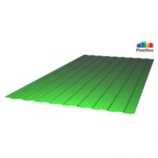 Профільований монолітний полікарбонат Plastilux SUNNEX 0,8 С-8 (У) зелений 1,15х2м