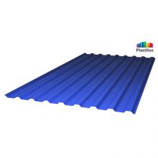 Профільований монолітний полікарбонат Plastilux SUNNEX 0,8 МП-20 (У) синій 1,15х2м