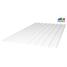 Профільований монолітний полікарбонат Plastilux SUNNEX 0,8 МП-20 (У) білий матовий 1,15х2м