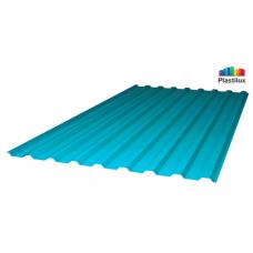 Профільований монолітний полікарбонат Plastilux SUNNEX 0,8 МП-20 (У) бірюзовий 1,15х2м