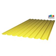 Профільований монолітний полікарбонат Plastilux SUNNEX 0,8 МП-20 (У) жовтий 1,15х2м