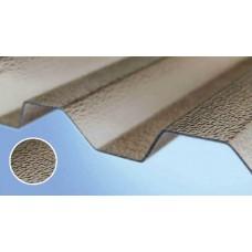 Полікарбонатний шифер Roеber трапеція текстурований 2000 х 1045 х 0,8 мм бронзовий