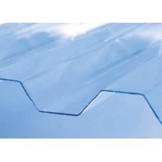 Полікарбонатний шифер Roеber трапеція прозорий 2000 х 1045 х 0,5 мм