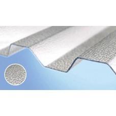 Полікарбонатний шифер Roеber трапеція текстурований 2000 х 1045 х 0,8 мм безбарвний