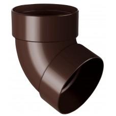 Відвід (коліно) труби двомуфтове 67° RainWay 75 мм