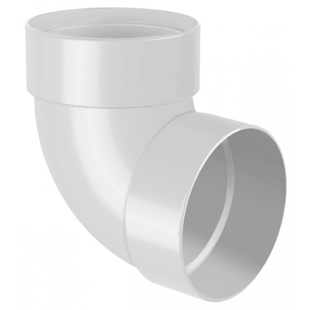 Відвід (коліно) труби двомуфтове 87° RainWay 100 мм білий