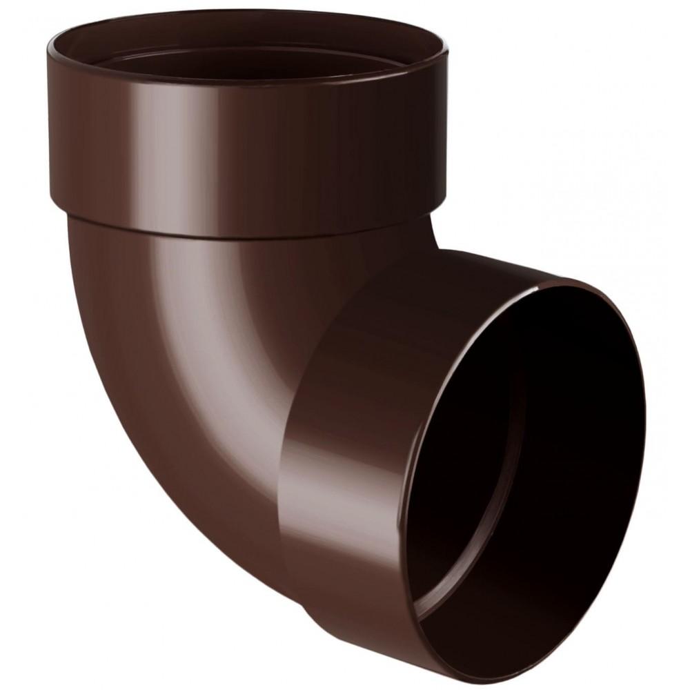 Відвід (коліно) труби двомуфтове 87° RainWay 75 мм