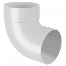 Відвід (коліно) труби одномуфтове 87° RainWay 75 мм білий