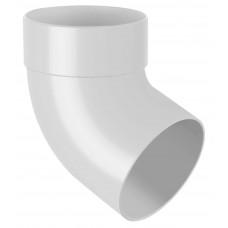 Відвід (коліно) труби одномуфтове 67° RainWay 75 мм білий