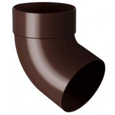 Відвід (коліно) труби одномуфтове 67° RainWay 75 мм