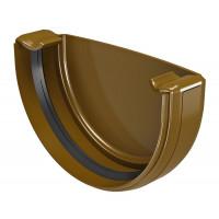Заглушка ринви Regenau 125 мм коричнева