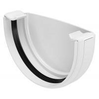 Заглушка ринви Regenau 125 мм біла
