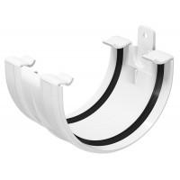 З'єднувач ринви Regenau 125 мм пластиковий білий