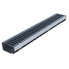 Лоток водовідвідний Standartpark PolyMax Drive ЛВ-10.15.06-ПП пластиковий з решіткою щілинною чавунною ВЧ класу D (комплект) 080534-UA