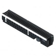 Лоток водовідвідний Standartpark PolyMax Drive ЛВ-10.16.16-ПП пластиковий з решіткою щілинною чавунною ВЧ класу D (комплект) 080034-UA