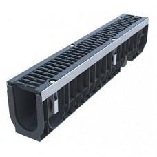 Лоток водовідвідний Standartpark PolyMax Drive ЛВ-10.16.20-ПП пластиковий з решіткою щілинною чавунною  ВЧ класу D (комплект) 080434-UA