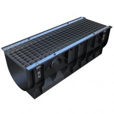 Лоток водовідвідний Standartpark PolyMax Basic ЛВ-30.39.38-ПП пластиковий з чарунковою стальною решіткою клас А (комплект)