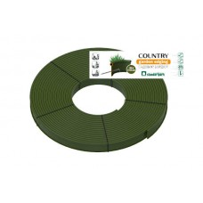 Садовый бордюр Standartpark «Кантри» Б-8000.2.11-ПП 80м пластиковый оливковый