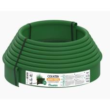 Садовий бордюр Standartpark «Кантрі» Б-1000.2.11-ПП 10м пластиковий зелений