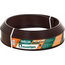 Садовый бордюр Standartpark «Кантри Лайн» Б-15000.10.2-ПП 15м пластиковый коричневый