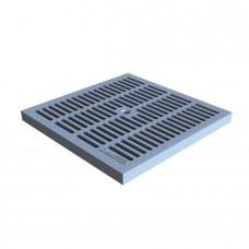 Решітка водоприймальна Standartpark PolyMax Basic РВ-28.28-ПП чарункова пластикова сіра кл.А 3380-Ч