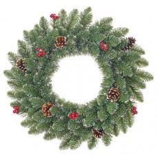 Вінок декоративний різдвяний Forest frosted TriumphTree 45 cм зелений