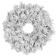 Вінок декоративний різдвяний Dinsmore frosted BlackBoxTrees 60 cм зелений зі снігом