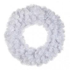 Вінок декоративний різдвяний Icelandic Iridescent TriumphTree 60 cм білий з блиском