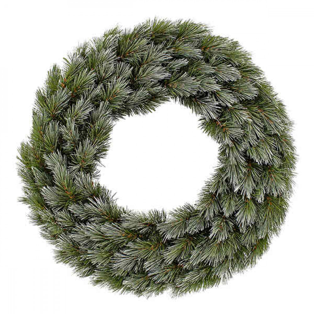 Вінок декоративний різдвяний Pittsburgh TriumphTree 45 cм зелений з інеєм